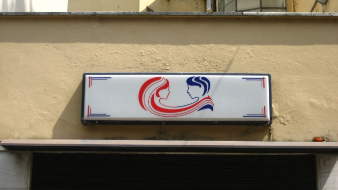 Sign for Hair Salon in Verona, Italy
