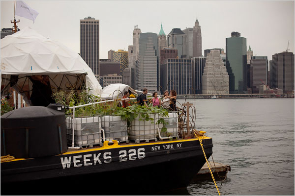 The Waterpod (Photo by Michael Nagle for the NYT)
