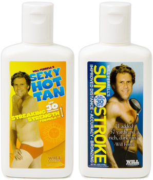 Will Ferrell Sunscreen
